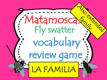 La familia Spanish family Flyswatter game 2 games