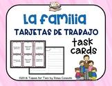 La familia Spanish family Task Cards clue cards