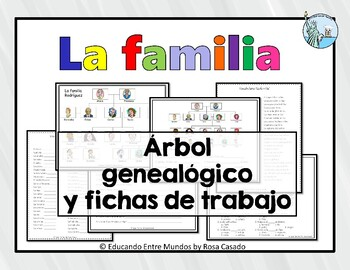 la familia family tree and worksheets by tapas for two tpt. Black Bedroom Furniture Sets. Home Design Ideas