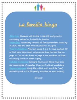 La familia bingo