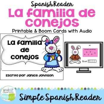 La familia de conejos ~ Spanish Family Spring reader for Easter {en español}