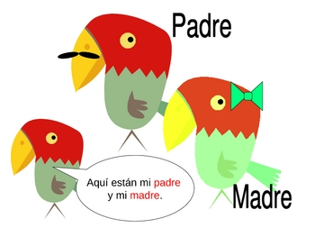 La familia - mini-story to contextually present family members