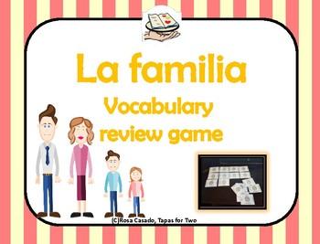 La familia vocabulary review game