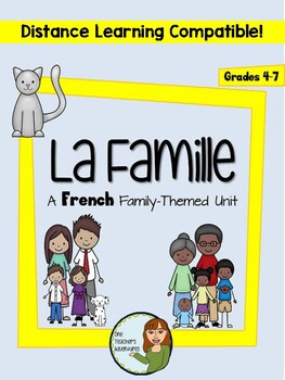 """La famille - A French """"family"""" themed unit with AVOIR (Grades 4-7)"""