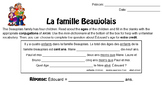 La famille Beaujolais - Conjugating the irregular verb avoir