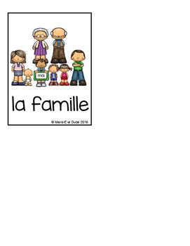La famille - Cartes de vocabulaire