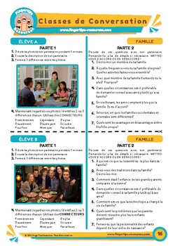 La famille - French Speaking Activity