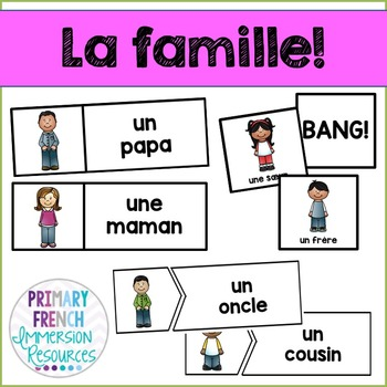 La famille - French family - flashcards and games