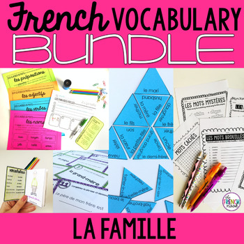 La famille French family vocabulary BUNDLE
