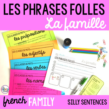 La famille French family vocabulary Les phrases folles