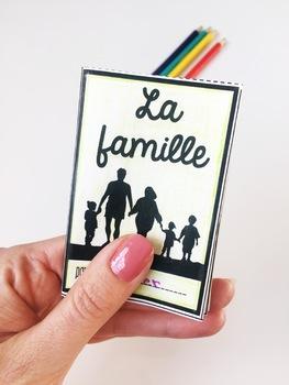 La famille French family vocabulary mini book