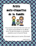 La famille - Mots-étiquettes