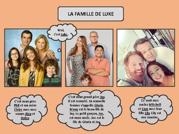 La famille moderne, French family vocabulary and practice