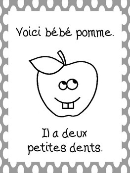 La famille pomme - French Fall Emergent Reader