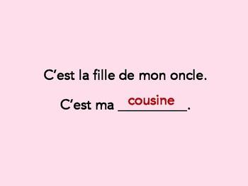 La famille, teste tes connaissances, French family vocabulary review game