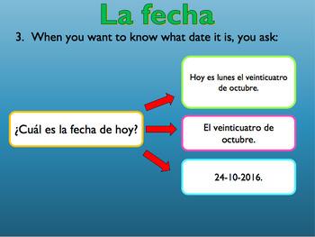 La fecha / The date