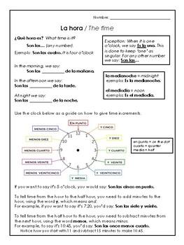 La fecha y la hora - Spanish conversation activities