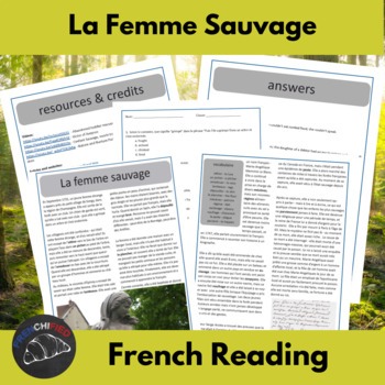 La femme sauvage - reading for intermediate/advanced French