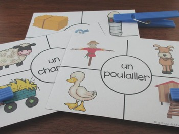 La ferme:   3 Farm Themed Vocabulary Games in French