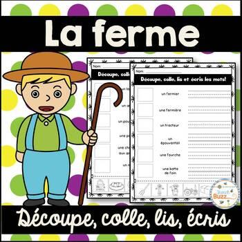 La ferme - Découpe et colle - French farm