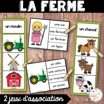 La ferme - Ensemble 2 jeux d'association - French Farm