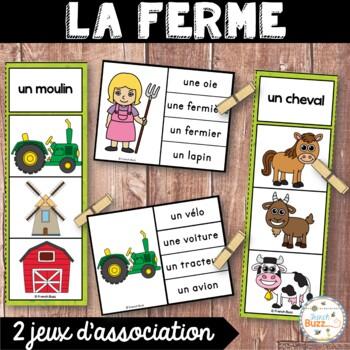 La ferme - Ensemble 2 jeux d'association - French Farm
