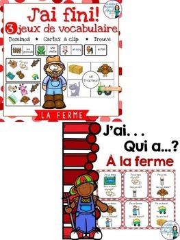 La ferme:  Farm Themed Vocabulary BUNDLE in French