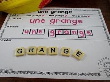 La ferme:  French Farm Themed Word Work Activity Mats
