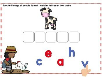 La ferme: French Farm Digital Task Cards BUNDLE - BOOM CARDS