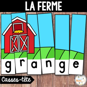 La ferme - French farm - 26 puzzles