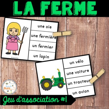 La ferme - Jeu d'association #1 - French farm