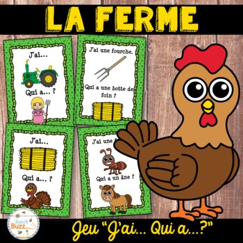"La ferme - jeu ""j'ai... qui a...?"" - French farm"