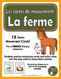 La ferme - les cartes de mouvement (French Farm: movement cards - Brain Break)