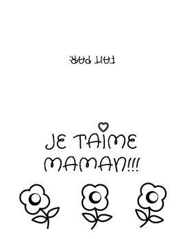 La fête des Mères-Mother's Day Card (French)