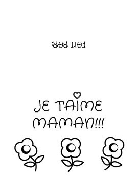 La fête des Mères-Mother's Day Card (French)