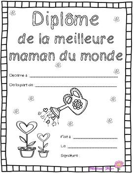 La fête des mères : French 'Best Mom' diplomas