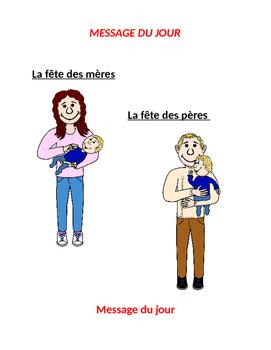 La fête des mères et la fête des pères - message du jour