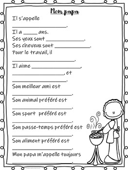 La fête des pères (Father's Day) Ontario Core French & Immersion Gift/Activities