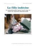 La fille indécise: CI story to teach les adjectifs démonstratifs