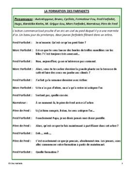La formation des farfadets (French Reader's Theatre)