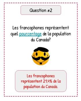 La francophonie au Canada:  rallye internet