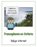 La francophonie en Ontario:  rallye internet