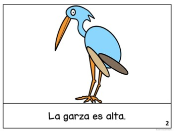La garza ~ Spanish the Heron Fable Reader ~Simplified for Language Learners