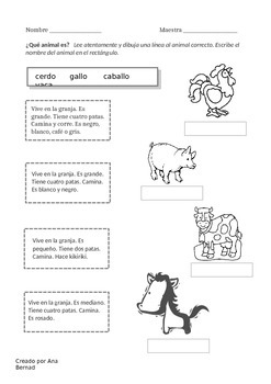 La granja - worksheet bundle (reading)