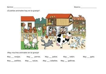 La granja - worksheet bundle (writing)