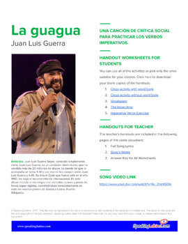 La guagua by Juan Luis Guerra: Spanish Song to Practice the Imperative