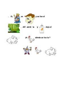 La historia de conejo de Pascua (pictogram)