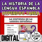 La historia de la lengua española HyperDoc tarea