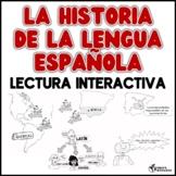 La historia de la lengua española- lectura interactiva worksheet