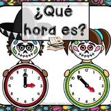 La hora Telling Time Day of the Dead theme